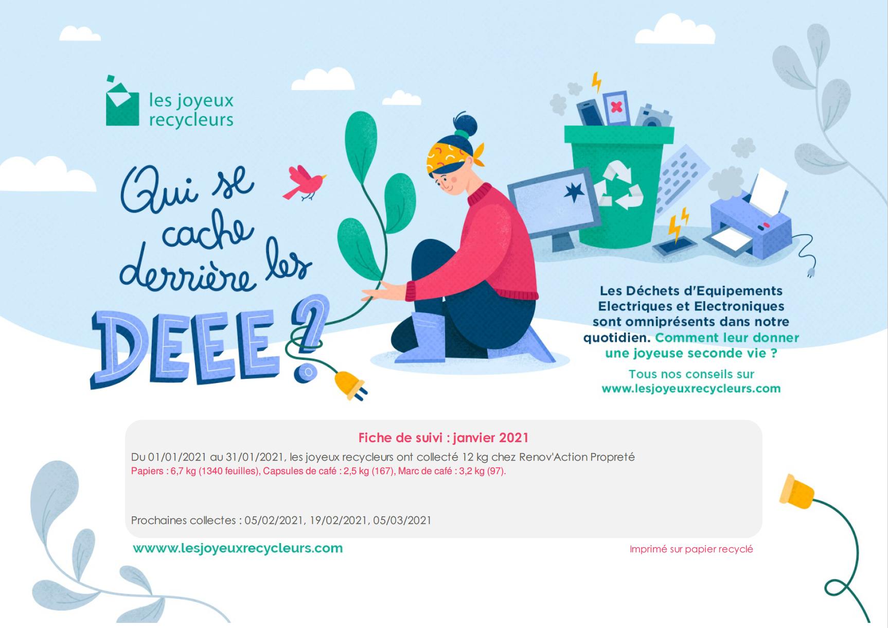 Read more about the article Les joyeux recycleurs- reporting de janvier