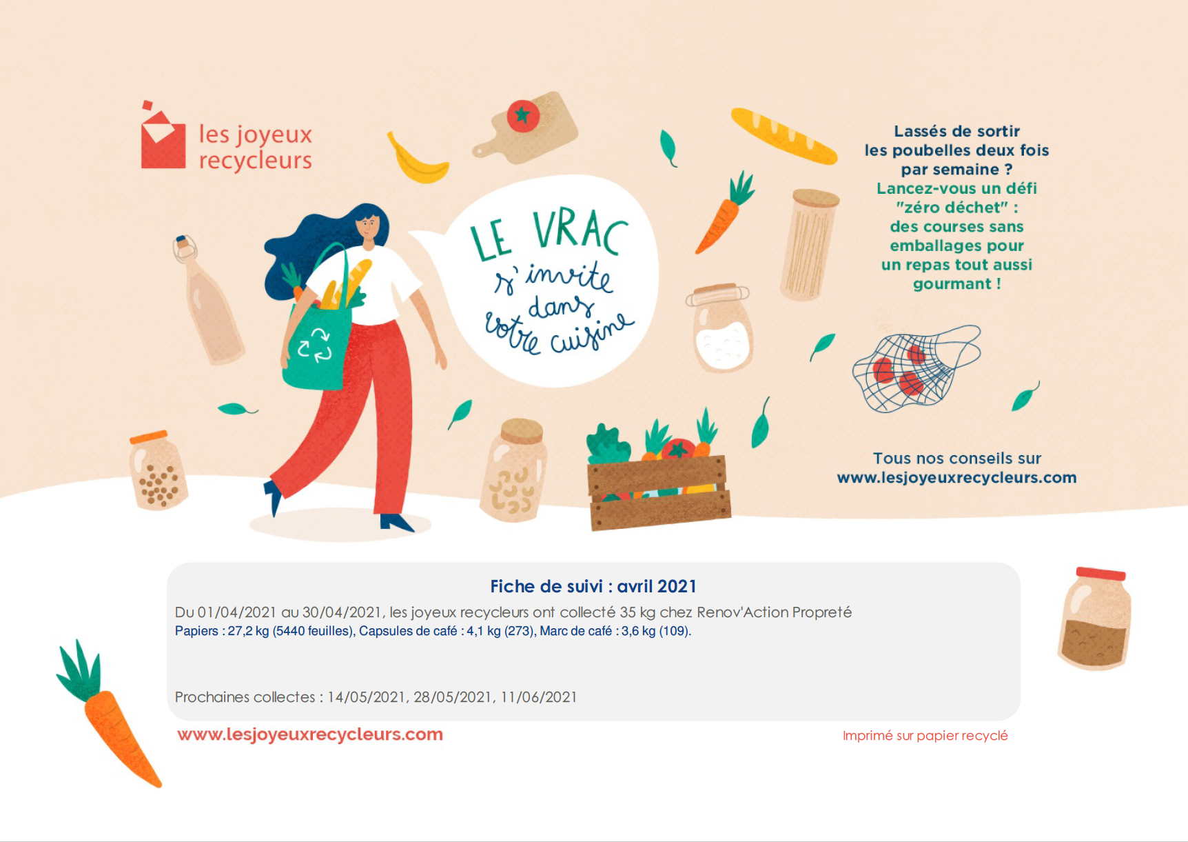 Read more about the article Les joyeux recycleurs – reporting d'avril